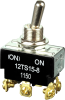 MICRO SWITCH TS Series Toggle Switch, 2 pole, 2 position, Screw terminal, Standard Lever -- 12TS15-8 -Image