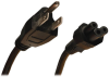 3-Slot Power Cord, NEMA 5-15P to C5 - Laptop/Notebook, 10A, 125V, 18 AWG, 3 ft., Black -- P013-003 - Image