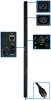 3-Phase Switched PDU, 5.7 KW, 24 208V Outlets (21-C13, 3-C19) 10-ft. Cord, NEMA L21-20P 20A Input, 0U Vertical Mount -- PDU3VSR10L2120