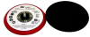3M Hookit 20352 Hard Red Disc Pad - 5 in DIA - 3/8 in Thick - 5/16 - 24 External Thread Attachment -- 051141-20352