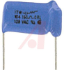 Capacitor, Metallized Polyester;0.1uF;Radial;125VAC;+/-20%;1.080In.L;0.440In.T; -- 70186538