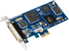 Low Profile PCI Express 1-Port RS-232, RS-422, RS-485, RS-530, RS-530A, V.35 Synchronous Serial Interface (uses Z16C32) -- 5104e