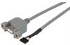 USB Type A Cable, Female Bulkhead/Female Header 1.0M -- UPMA5-2MM-1M