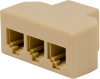 1-Wire Bus 1×3 Splitter, 6P4C (RJ11) Connectors -- 105351 - Image