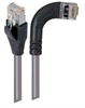 Category 5E Shielded Right Angle Patch Cable, Right Angle /Straight, Gray 5.0 ft -- TRD815SRA7GRY-5 -Image