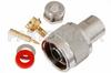 N Male Connector Clamp/Solder Attachment For PE-SR405AL, PE-SR405FL, RG405 -- PE4129 -Image