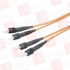 BLACK BOX CORP EFN062-002M-CC ( CERAMIC TERMINATED 62.5-MICRON MULTIMODE GSA FIBER OPTIC CABLE, ST-ST, DUPLEX RISER, 2-M (6.5-FT.) ) - Image