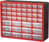 Case, Plastic Storage Cabinet 44 Drawer -- 10144REDBLK -Image