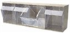 """Tip-Out Bin System, 4-Bin Capacity; 23-5/8"""" x 8-1/6"""" x 6-5/8"""" -- GO-47110-06 -- View Larger Image"""