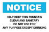 Notice Sign,10 x 14In,BL and BK/WHT,ENG -- 4FP96