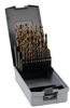 Jobber Drill Bit Set: heavy duty HSS-Co5, 1/16 to 1/2 inch dia., 29-pc -- 215851RO -- View Larger Image