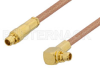 MMCX Plug to MMCX Plug Right Angle Cable 72 Inch Length Using RG178 Coax -- PE34883-72 -Image