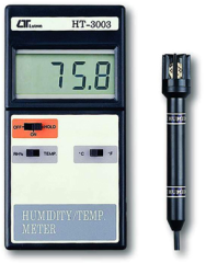 Humidity measurement used a high precision thin-film capacitance sensor for fast response & not depend on air movement past the probe.