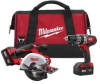 MILWAUKEE 18V M18[TM] Lithium Ion Cordless Hammer Drill & -- Model# 2698-22