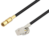 SMA Male Right Angle to SSMC Plug Low Loss Cable 18 Inch Length Using LMR-100 Coax -- PE3C4424-18 -Image