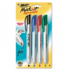 Mark-it Retractable Permanent Markers, Assorted Four Colors, -- PMRP41-ASST