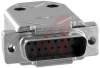 connector,d-sub kit,15 crimp contact plug w/contacts and metalized plastic hood -- 70172319