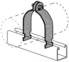 Channel Conduit/Cable Clamp -- PS 1200 3 3/4