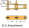 Double Pitch Chain Attachment with Large Plastic Rollers -- C2102HSSD D-3 -Image