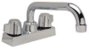 Sink Faucet,Knob,6 In Spout -- 24X186