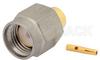 RP SMA Male Connector Solder Attachment for PE-SR402AL, PE-SR402FL, PE-SR402FLJ, PE-SR402TN, RG402, Gold Plated Brass Body -- PE44724 -Image
