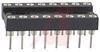 Socket, DIP;Closed;4-Finger;16 Pos.;0.100In.cen.;Solder;0.3In.;30muIn. Gold;0.12 -- 70206588 - Image