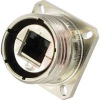 ATEX ZONE 2 SQUARE FLANGE RECEPTACLE; RJ45 BACK TERMINATION; NICKEL PLATED -- 70026686 - Image