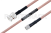 MIL-DTL-17 BNC Male to SMA Male Cable 60 Inch Length Using M17/60-RG142 Coax -- PE3M0005-60 -Image