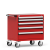 R Mobile Cabinet, with Partitions, 5 Drawers (30