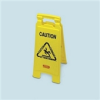 Folding Floor Signs Caution Wet Floor (English) -- RCP 6112-77 YEL
