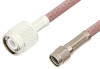 Reverse Polarity SMA Male to TNC Male Cable 24 Inch Length Using RG142 Coax -- PE35216-24 -Image