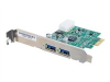 Cables To Go 2-Port USB 3.0 SuperSpeed PCI-E Card - USB adapter - 2 ports -- 29055