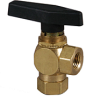Metal Two Way Right Angle Ball Valve -- 702 Series -- View Larger Image