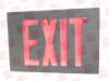 LITHONIA LIGHTING LE-S--B-2-R-120/277 ( EXIT SIGN LED DOUBLE FACE RED 120/277V BLACK CASE ) -Image