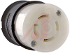 Connector Body; 30 A; 125/250 VAC; L14-30R (NEMA); Black/White; Black Nylon -- 70116440