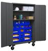 14 Gauge, Mobile Cabinets -- H3502M-BLP-18-2S-1795 -Image