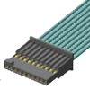 "Micro Rugged Discrete Wire Systems .050"" (1,27mm) Tiger Eye™ Wire-to-Board System -- SFSST Series -- View Larger Image"