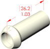 Straight Boot Insulator -- 16012 -- View Larger Image