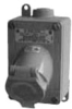 Explosionproof Pin and Sleeve Receptacle with Circuit Breaker -- ECS6GFI2023