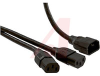 Cord, Twin end; 13 A; 125 V; 6 Ft; C14 plug; Two C13 connectors; Black Jacket -- 70125918