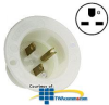Leviton 15 Amp 250V 2-Pole, 3-Wire Flanged Inlet Receptacle -- 15678-C - Image