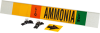 Brady B-681, B-883 Black / Green / Orange / White on Yellow Polyester Strap-On Pipe Marker - 3 1/2 in Character Height - Printed Msg = AMMONIA - 59942 -- 754476-59942 - Image