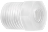 Fisnar 560950N Reducer White 0.125 in NPT Male x 1/4-28 UNF Female -- 560950N -Image