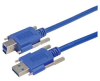 USB 3.0 Cable, Type A/B with Thumbscrew Hardware 3.0M -- MUS3A00022-3M -Image