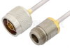N Male to N Female Cable 6 Inch Length Using PE-SR402AL Coax -- PE34289LF-6 -Image