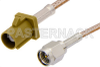 SMA Male to Curry FAKRA Plug Cable 48 Inch Length Using RG316 Coax -- PE39343K-48 -Image