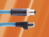 M12 Male 90 Degree to Male RJ45 4 pole TPE Ethernet Cordset -- DW04QR117 - Image