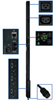 TAA Compliant 3-Phase Monitored PDU, 12.6 KW, 36 208V Outlets (30 C13, 6 C19), 3-ft. Hubbell CS8365C 50A Input, 0U Vertical Mount -- PDU3VN3H50TAA