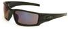 Honeywell ANSI Z87.1 S2945 Universal Polycarbonate Safety Glass Blue Mirror Lens - Black Frame - Straight - 603390-13039 -- 603390-13039