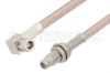 SMC Plug Right Angle to SMC Jack Bulkhead Cable 12 Inch Length Using RG316-DS Coax -- PE34474-12 -Image